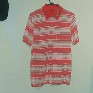 Orange button shirt